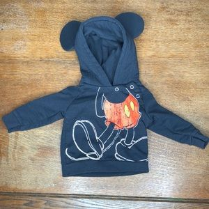 Disney Mickey Mouse Hoodie with Mickey Body & Ears